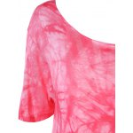 Stylish Round Neck Tie-Dyed Short Sleeves Top For Women deal