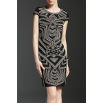Mini Embroidered Sheath Dress