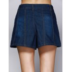 Deep Color Denim Flare Jeans Shorts for sale