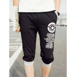 Elastic Waist Letter Pattern Shorts For Men