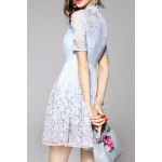 Cut Out Embroidered Gauze Dress for sale