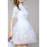 Cut Out Embroidered Gauze Dress deal