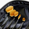 5 Pcs Oval Toothbrush Shape Fiber Makeup Brushes Set with Brush Package for sale