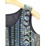 Ethnic Fashion Sequined Mesh Spliced Crop Top deal