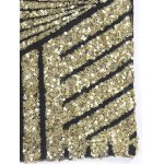 Bling Bling Sequined Mesh Splicing Crop Top deal
