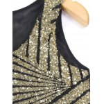 cheap Bling Bling Sequined Mesh Splicing Crop Top