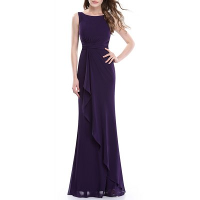 Knotted Backless Maxi Prom Dress