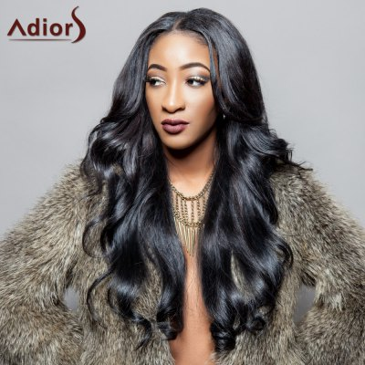 Long Synthetic Fluffy Wave Centre Parting Adiors Wig
