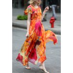 Floral Print Maxi Swing Dress deal