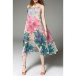 Floral Print Midi Slip Dress and Cape deal