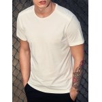 Round Neck Simple Solid Color Short Sleeve T-Shirt For Men deal