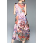 cheap Colorful Printed Chiffon Tank Dress