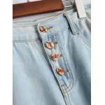 Wash Bleach Button Design Ripped Embroidery Jeans deal