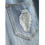 best Drawstring Ripped Ninth Harem Jeans