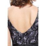 best Plunging Neck Lace Backless Dress