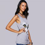 best Casual Scoop Neck Printed Studded Tee For Women