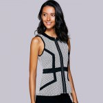 best Casual Round Neck Print Ruffled Top For Women