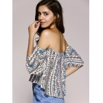 best Ethnic Style Off The Shoulder Paisley Printed Crop Top For Women