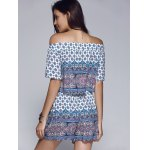 best Ethnic Style Printed Off The Shoulder CropTop + Shorts Twinset For Women