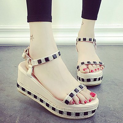 Fashion Rhinestone and Platform Design Sandals For Women