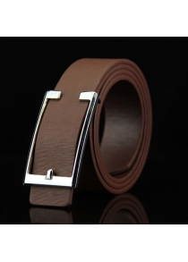 Stylish Simple Cut Out Rectangle Buckle Casual PU Belt For Men