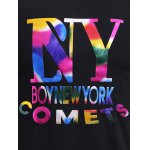 BoyNewYork Colorful Letters Pattern T-Shirt for sale