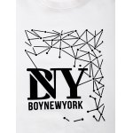 BoyNewYork Geometric Pattern Short Sleeves T-Shirt deal