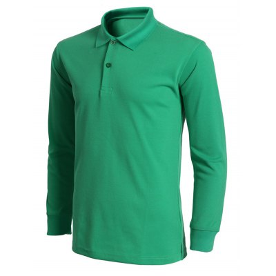 Turn-Down Collar Solid Color Long Sleeve T-Shirt For MenMens Long Sleeves Tees<br>Turn-Down Collar Solid Color Long Sleeve T-Shirt For Men<br><br>Material: Cotton,Polyester<br>Sleeve Length: Full<br>Collar: Turn-down Collar<br>Style: Fashion<br>Pattern Type: Solid<br>Season: Fall,Spring<br>Weight: 0.352kg<br>Package Contents: 1 x Polo T-Shirt