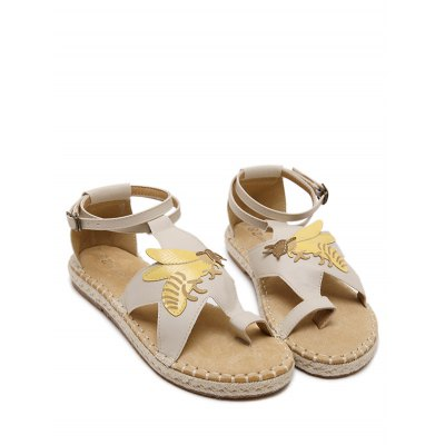 leisure-insect-toe-loop-design-sandals-for-women