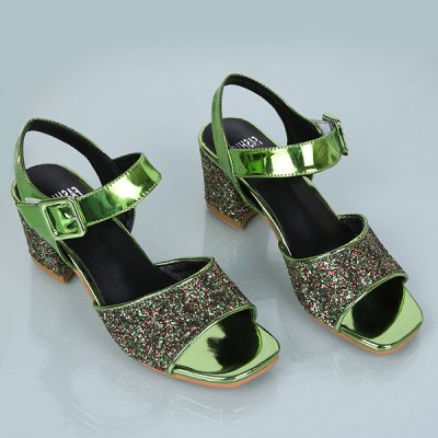 Sequined Cloth Design Sandals For Women
