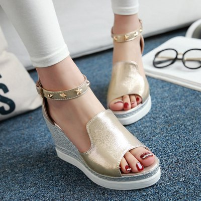 Trendy Zipper and Metal Color Design Sandals For Women