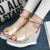 cheap Trendy Zipper and Metal Color Design Sandals For Women