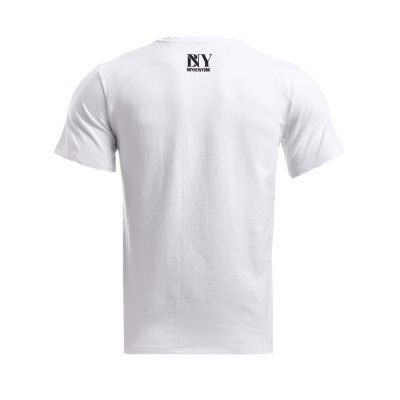 BoyNewYork Skulls Stripes Printed T-ShirtBoyNewYork<br>BoyNewYork Skulls Stripes Printed T-Shirt<br><br>Material: Cotton<br>Sleeve Length: Short<br>Collar: Round Neck<br>Style: Fashion<br>Weight: 0.334kg<br>Package Contents: 1 x T-Shirt<br>Pattern Type: Skulls