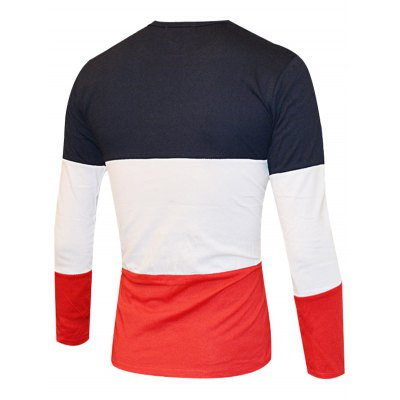 Color Splicing Round Neck Long Sleeve T-Shirt For MenMens Long Sleeves Tees<br>Color Splicing Round Neck Long Sleeve T-Shirt For Men<br><br>Material: Cotton Blends,Polyester<br>Sleeve Length: Full<br>Collar: Round Neck<br>Style: Casual<br>Embellishment: Spliced<br>Pattern Type: Letter<br>Season: Fall,Spring<br>Weight: 0.271kg<br>Package Contents: 1 x T-Shirt