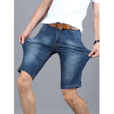 Fashionable Frayed Mid Wash Slim Fit Denim Shorts For MenMens Shorts<br>Fashionable Frayed Mid Wash Slim Fit Denim Shorts For Men<br><br>Style: Casual<br>Length: Knee-Length<br>Material: Jeans<br>Fit Type: Regular<br>Waist Type: Mid<br>Closure Type: Zipper Fly<br>Front Style: Pleated<br>With Belt: No<br>Weight: 0.500kg<br>Package Contents: 1 x Shorts