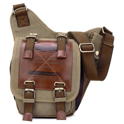 Buckles Design Messenger Bag For Men