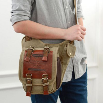 Leisure Canvas and Buckles Design Messenger Bag For MenMens Bags<br>Leisure Canvas and Buckles Design Messenger Bag For Men<br><br>Gender: For Men<br>Pattern Type: Patchwork<br>Closure Type: No Zipper<br>Main Material: Canvas<br>Length: 21CM<br>Width: 13CM<br>Height: 24CM<br>Weight: 0.644kg<br>Package Contents: 1 x Messenger Bag