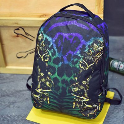 Stylish Canvas and Multicolor Design Backpack For Men