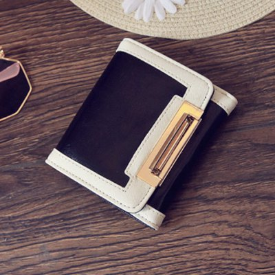 Fashion PU Leather and Color Splicing Design Wallet For Women