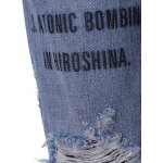 Stylish Letter Print Ripped Jeans For Women for sale