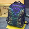 cheap Stylish Canvas and Multicolor Design Backpack For Men