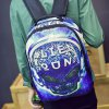 cheap Trendy Color Splicing and Skull Pattern Design Backpack For Men