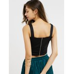 Cut Out Zipper Back Crop Top for sale