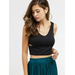 Cut Out Zipper Back Crop Top deal