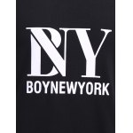 BoyNewYork Special Fabric Spliced Letters Pattern T-Shirt for sale