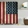 Mouldproof Waterproof USA Flag Pattern Shower Curtain