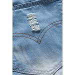 Ripped Denim Bermuda Shorts For Men for sale