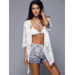 Openwork Row Edged Floral Lace Kimono Cover-Up deal