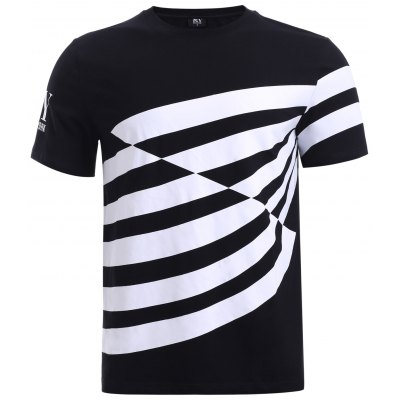 BoyNewYork Color Block Stripes T-Shirt