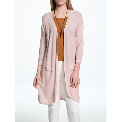 Candy Color Collarless Thin Cardigan